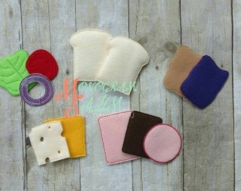 12 piece Felt sandwich set