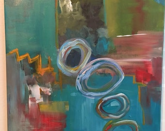 SOLD!!! Abstract acrylic painting 16x20 Original abstract painting