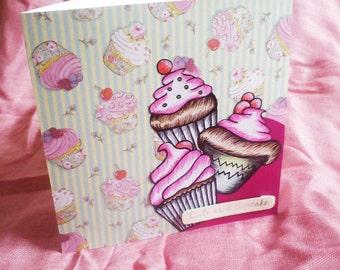 Cupcakes Handmade Card