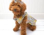 Dog Clothes, Girl Dog Dress Gray Cactus
