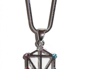 Sacred Geometry Kabbalah Tree of Life Necklace