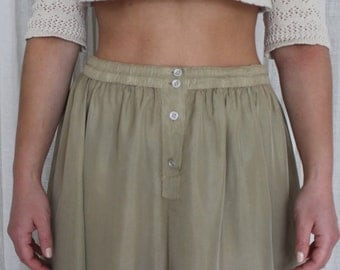 Second skin / Vintage Skirt / minimum / 90's / Olive Green