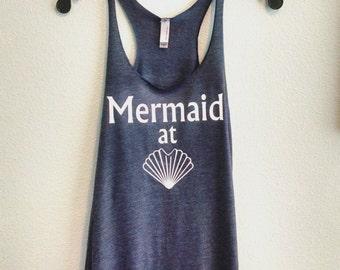 Mermaid At Heart triblend racerback tank