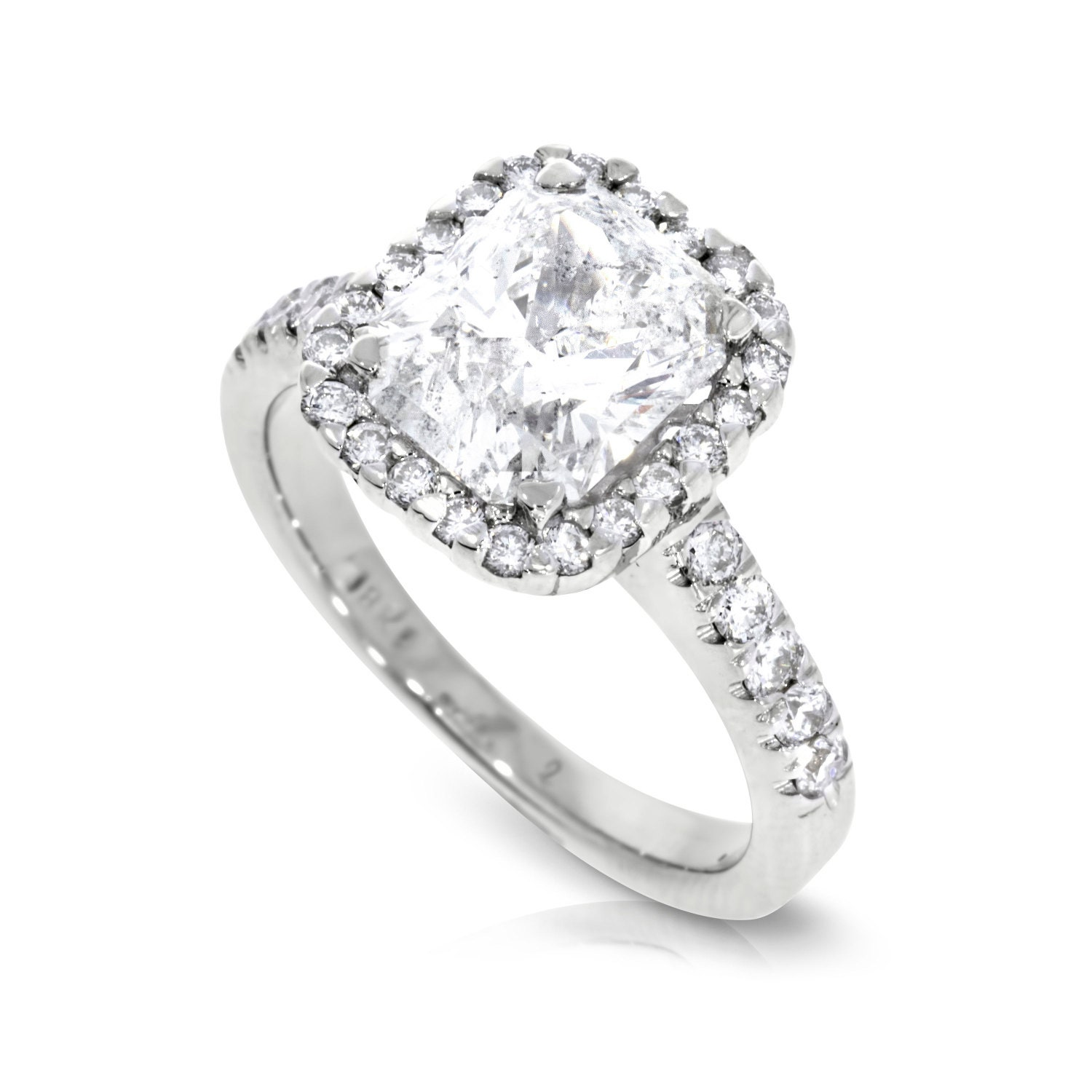 Solitaire Engagement Rings Size 8 18K White Gold Solitaire