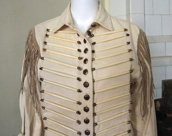 Vintage Military Western Sergeant Pepper Jacket Blazer Festival Boho