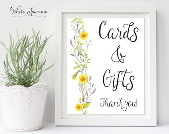 Cards and Gifts Sign, wedding sign, wedding decorations, wedding gift sign, wedding signs, bridal shower signs, gift and card table sign