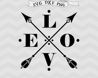Love SVG Arrow Svg Valentine DXF Valentines day svg valentines svg Cricut downloads cricut files vector files svg files for Silhouette
