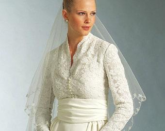 New Vogue V2979 Grace Kelly Kate Middleton Wedding Dress Pattern UNCUT Formal Evening Empire Bridal Gown sizes choose 6-22