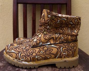 Unique Design Men's Timberland Boots Sz. 9.5