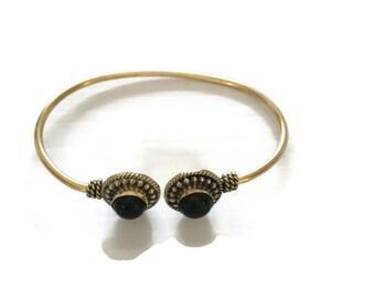 Black Onyx Bracelet-Cuff Bracelet-Bracelet-Black Onyx-Sterling Silver-Black Onyx-Silver Cuff Bracelet-Black Bracelet-Gift-Unique-Jewelry