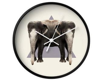 Elephants Wall Clock - Double Animals