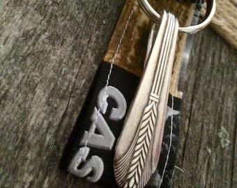 Spoon Keychain [& handmade fob]