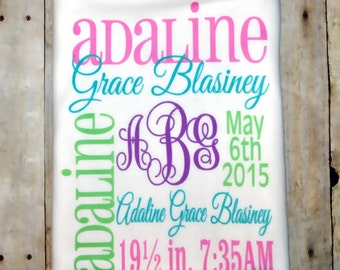 Personalized Baby Name Blanket
