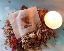 BATHING RITUAL SACHETS Herbal Mixture, Love, Wishing, Money, Banishing, Protection, Ritual Bath Pouch ~ Wicca Witchcraft Hoodoo Pagan