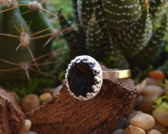 Sterling Silver Black Onyx Ring size 5.5