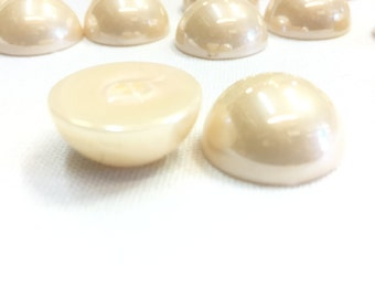 20mm Flatback Pearls 50 pieces