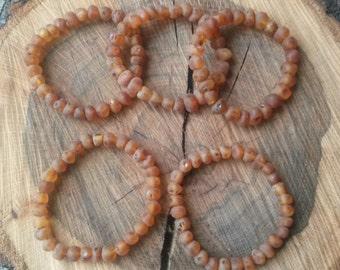 Raw Baltic amber stretch bracelet, Ad
