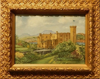 Oil Painting on Canvas of Dunvegan Castle, Isle of Skye, Scotland