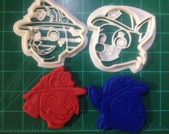 Paw Patrol Marshall and Chase Cookie Cutters