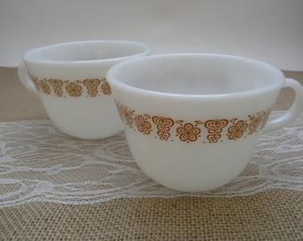 Pyrex Butterfly Gold, Butterfly Gold Cups, Pyrex Coffee Cups, Pyrex Coffee Mugs, Pyrex Cups, Pyrex Mugs, Butterfly Gold, Pyrex Gold Flower
