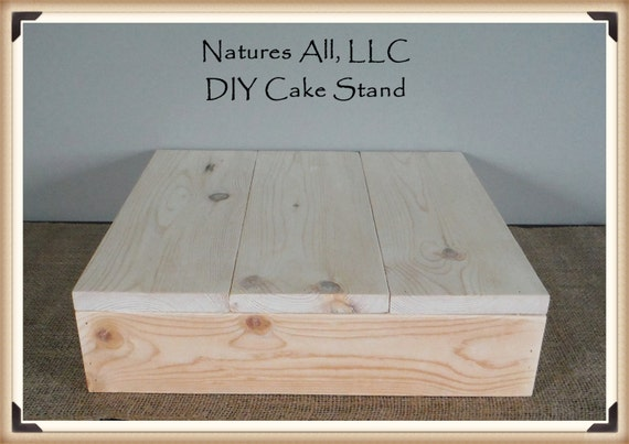 "14"" DIY Rustic Wedding Cake Stand/Country Wedding Cake Stand/Unfinished -Natural Wood/Shipping Included/Item# UCS-1014"