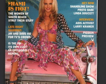 Mature Vintage Playboy Mens Girlie Pinup Magazine : September 1993 VG White Pages Intact Centerfold