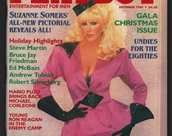 Mature Vintage Playboy Magazine Mens Girlie Pinup Magazine : September 1984 Suzanne Somers Ex+ White Pages Intact Centerfold