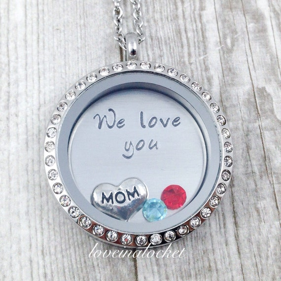 Necklace mother s necklace we love you mom mom birthday gift hand