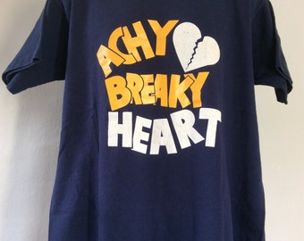 Vtg 90s Achy Breaky Heart T-Shirt Blue XL Billy Ray Cyrus Country Music