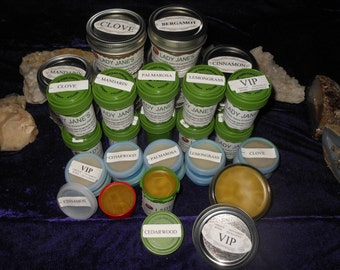 PAIN and INFLAMMATION Relief Organic Salve Choice of 14 Essential Oils Made to Order