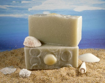Sandal Ready / Natural Exfoliating Pumice Foot Soap, Essential Oil of Peppermint and Tea Tree, Cold Process Homemade Soap