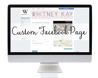 Custom Social Media Facebook Page + Hosting, Facebook Business Page, Facebook Design, Custom Design, Business Design, Business Branding
