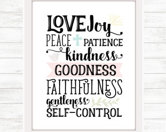 Love Joy Peace Digital Download / Printable Wall Art