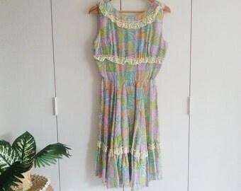 SALE - Vintage Dress - Retro Fashion - Vintage Clothing - 70s - 70s Fashion - Summer Dress  - Spring Fashion