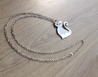 Cat charm necklace in gift box