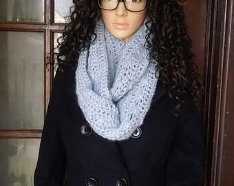 Silver Alpaca infinity scarf