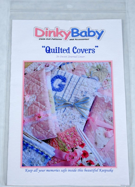 How To Make A Quilted Book Cover : Dinky baby pattern quilted book covers
