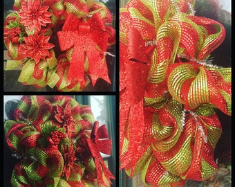 Red and Green Christmas Wreath