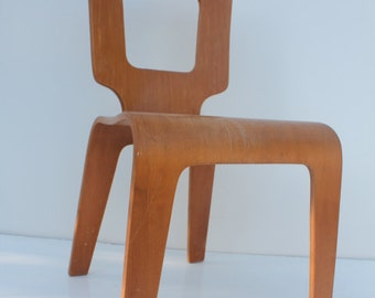 Thonet Mid Century  Bentwood  Birch  Chair.