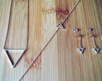 COLLECTION TRIANGLE - Necklace, Bracelet and earrings