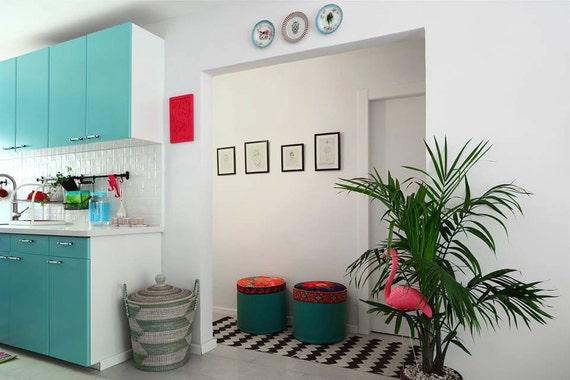 pouf living room pouf foot rest nook seating floral. Black Bedroom Furniture Sets. Home Design Ideas