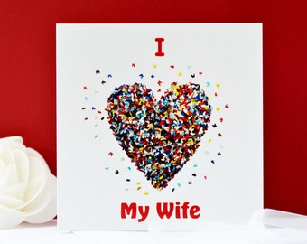 I Love My Wife card, Wife card, Butterfly card, Wife Valentine Card, Wife Birthday Card, Wife Anniversary Card, Wife Heart Card