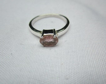 NATURAL TURMALINE ring in sterling silver, turmaline  7*5 mm oval