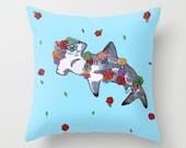 Floral Shark Pillow