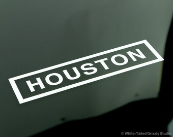 Houston Car Decal Etsy - Custom car decals houston   how to personalize