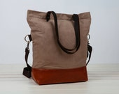 SALE 25% OFF!Only one!waxed canvas tote!