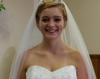 Cathedral length white/ivory 1t veil
