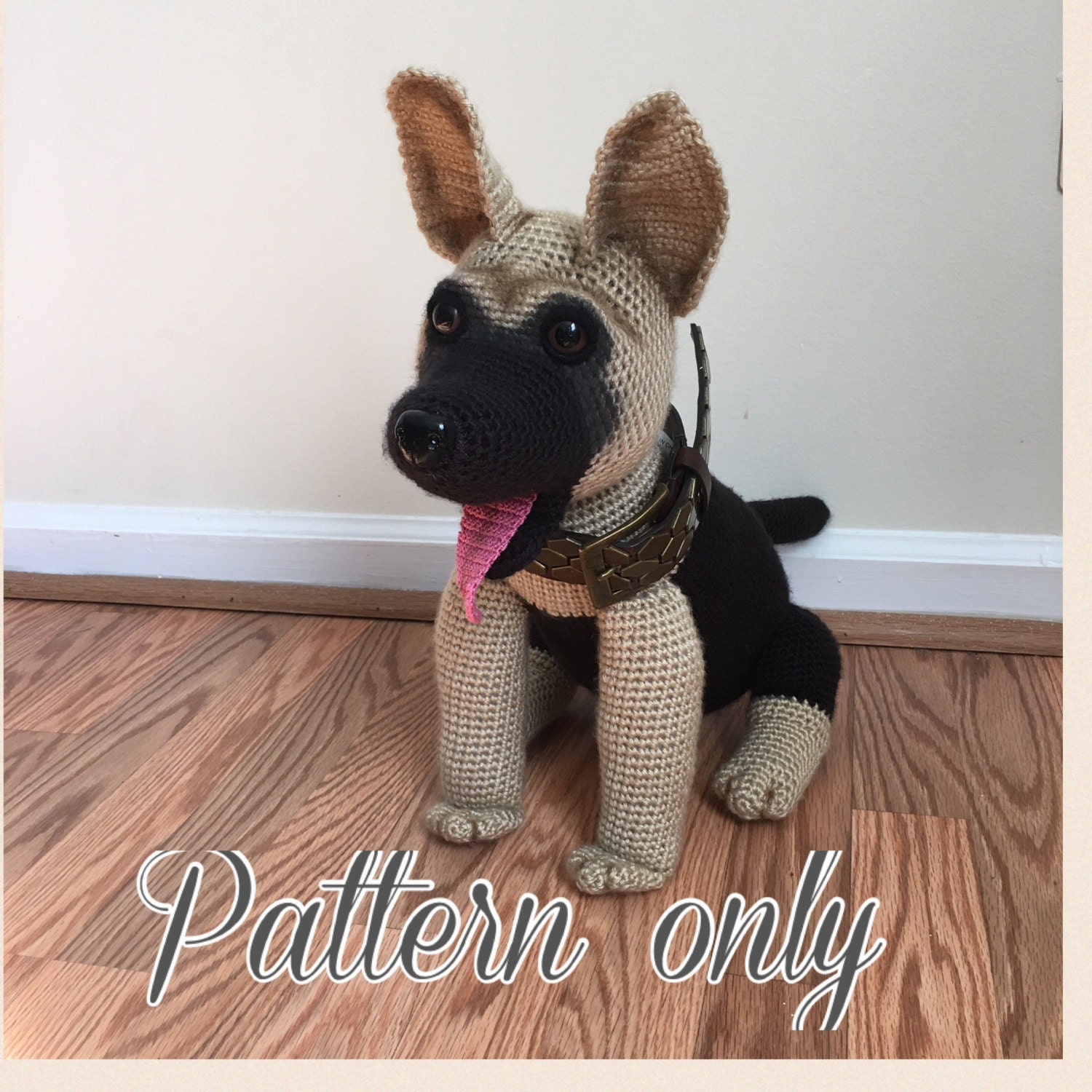 Crochet Dog Amigurumi German Shepherd Black Puppy |Crochet German Shepherd