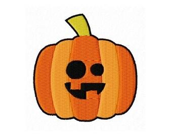 Sale - Jack O Lantern Pumpkin, Orange Pumpkin, Halloween Embroidery Design, Machine Embroidery, Fill Stitch, Digital Design