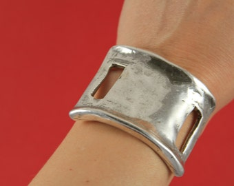 9/6 MADE IN EUROPE half bracelet, cuff, metal connector, half cuff, zamak connector (ABR119) Qty1